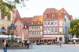 Göttingen market square, Göttingen, Lower Saxony, Germany