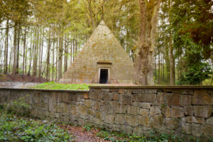 Mausoleum of Count Ernst zu Munster in Derneburg, Laves culture path in Derneburg near Hildesheim, Lower Saxony, Germany, Europe