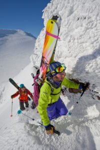 Ski tour in Isafjördur, Westfjords, Iceland
