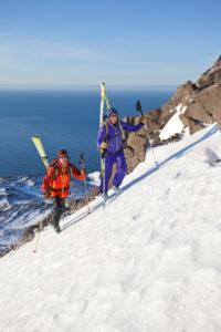 Skitour in Isafjördur, Westfjords, Island