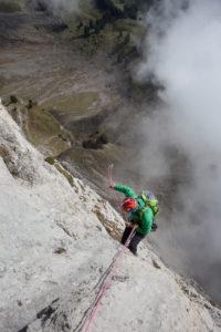 Klettern am Zuestoll, Die Churfirsten Berge, Appenzeller Land, Kanton St. Gallen, Schweiz