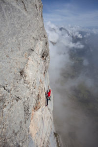 Climbing at the Zuestoll, The Churfirsten Mountains, Appenzeller Land, Canton St. Gallen, Switzerland
