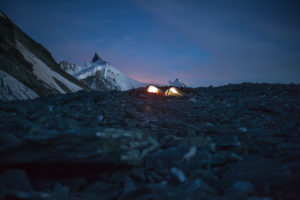Bivouac on 4000 m, waking up, tents, light, moon, stars, adventures, trekking, Switzerland, outdoors, tent, Zinal, series Tracuit, sport, cold, moon, night, bivouac