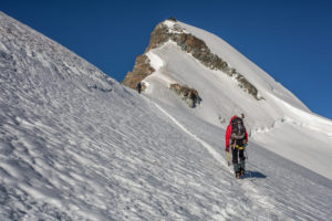 1 person, trekking, climb, approach, Scenery, Summit, Glacier, Energy, balanced, destination, success, Only
