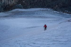 approach to the summit, Allalinhorn, tomorrow, cold, ice, snow, crevasses, climbing irons, idyll, rest, effort, adventure, Switzerland, alps