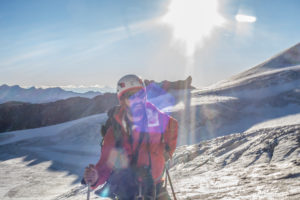 1 person, looking into camera, ice, glacier, climb, approach, flare, the sun, summit, loneliness, silence, glacier, lonely, silence, balanced, destination, success