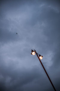 Street lamp with dusk, London, England, Great Britain