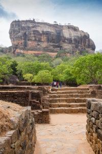 View of Sigiriyafelsen, Sri Lanka