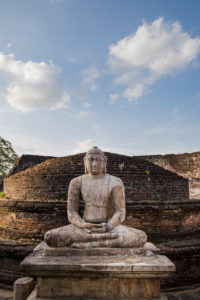Buddha statues in dilapidated ruin of the old capital of Sri Lanka, Polonnaruwa