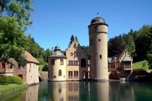 Germany, Bavaria, Lower Franconia, Spessart, Mespelbrunn Castle
