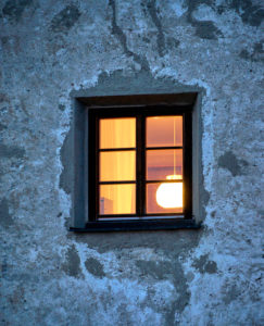 Germany, Bavaria, Upper Bavaria, Burghausen, castle, facade, window, light