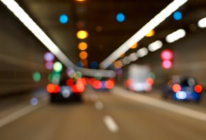 Germany, Bavaria, Munich, middle ring road, road tunnel, traffic, blur, lights