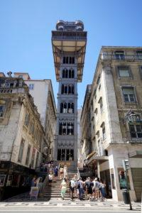 Europe, Portugal, Lisbon area, Lisbon, Rua Augusta, pedestrian area, Elevador de Santa Justa, Sant Justa Elevator