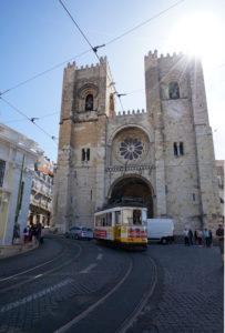 Europe, Portugal, Lisbon region, Lisbon, Lisbon Cathedral, Catedral se Patriarcal, Santa Maria Maior, exterior