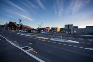 Streetview, morning mood at Christchurch Central City