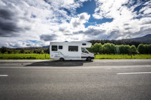 Caravan on Highway 7, South Island New Zealand