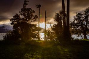Sunset over Lake Brunner, South Island New Zealand