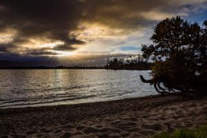 Sonnenuntergang über Lake Brunner, Südinsel Neuseeland