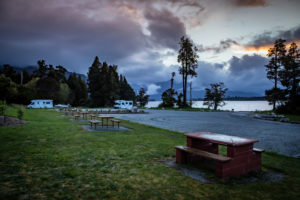 Iveagh Bay Campground, Lake Brunner, Südinsel Neuseeland
