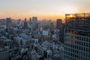 Asia, Japan, Nihon, Nippon, Tokyo, city overview, Hamamatsucho stadium, view from Tokyo World Trade Center