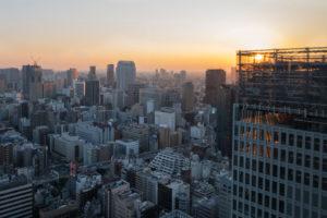 Asien, Japan, Nihon, Nippon, Tokyo, Stadtübersicht, Hamamatsucho Station, Ausblick vom Tokyo Word Trade Center