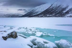 Europa, Norwegen, Troms, Tromvik, Wetterwechsel