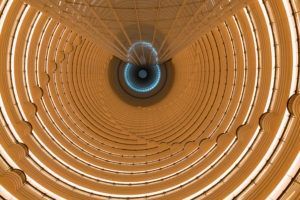 Asia, People's Republic of China, China, Shanghai, Huang Po, Pudong District, Atrium of Jin Mao Tower