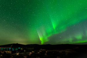 Europe, northern island nation of Iceland, northern lights at Gulfoss