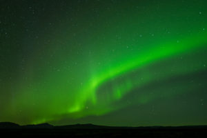 Europe, Nordic island nation, Iceland, Northern Lights on Gulfoss