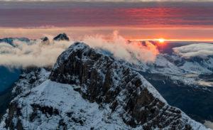 Europa, Schweiz, Zentralschweiz, Kanton Obwalden, Engelberg, Abends auf dem Titlis