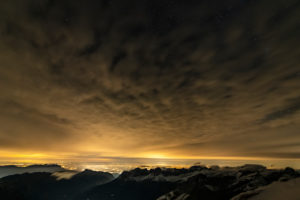 Europe, Switzerland, Central Switzerland, Canton Obwalden, Engelberg, at night on the Titlis