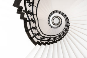 Europe, Germany, Hanseatic City of Hamburg, staircase architecture
