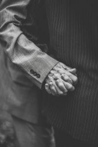 Hands of seniors