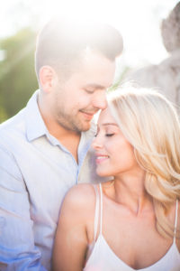 Young couple, happy, in love, smiling, portrait, outside