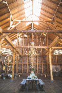Alternative wedding in a barn, decoration