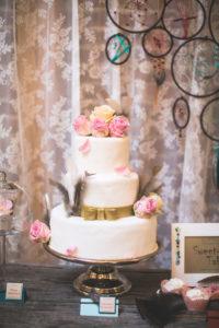Wedding cake and decoration at Indian wedding,