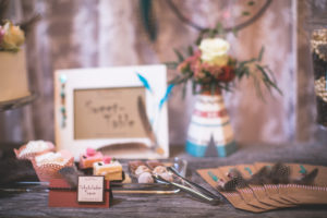 Tartlets, Petit Fours and chocolates at a wedding
