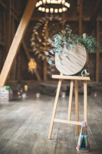 Indian wedding, decoration in a barn