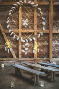 Indian wedding, wall decoration, dream catcher, benches