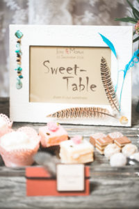 Tartlets, Petit Fours and chocolates in a wedding