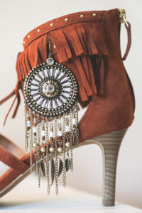 Indian women's shoe, close up