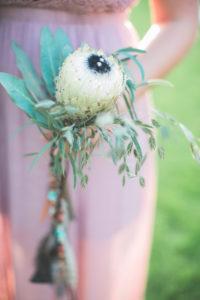 Alternativer Brautstrauss, close-up, Protea