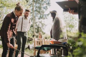 Alternative wedding, bride and groom, ceremony, ritual