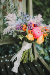 Alternative wedding, bridal bouquet