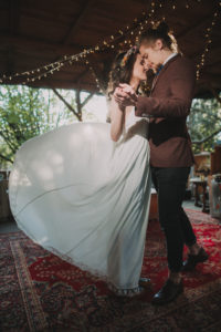 Alternate bridal couple with wedding dance outside