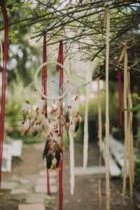 Alternative wedding outside, decoration, dream catcher,