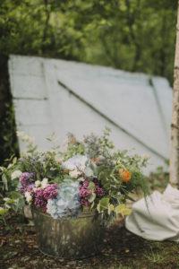 Alternative Hochzeit im Freien, Dekoration, Blumen
