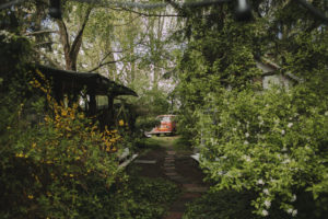 Alternative garden, property, way, old VW bus,