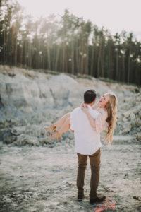 Paar, verliebt, Schlucht, fröhlich, Mann, Frau, tragen,