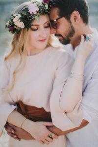 Couple, in love, hug, half portrait,